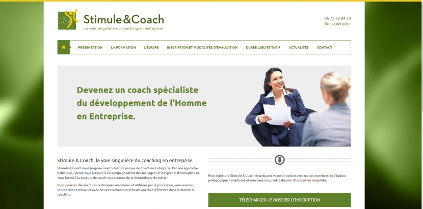 Site stimule and coach